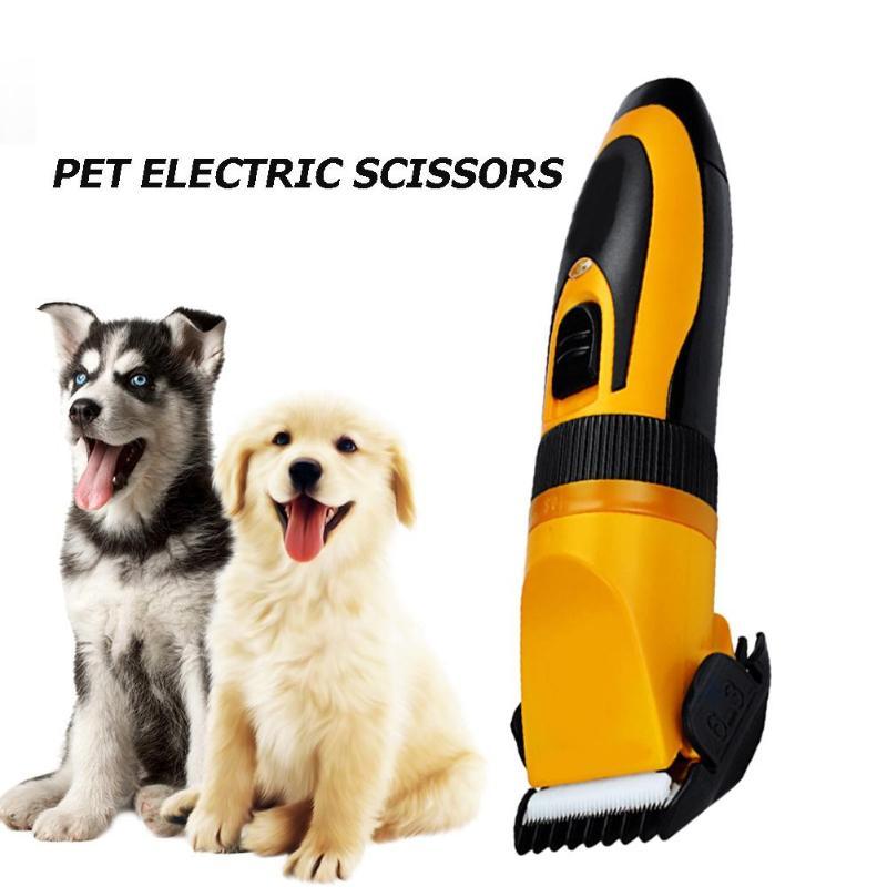 Tondeuse électrique pour animaux de compagnie chiens de compagnie tondeuse à cheveux chat coupe ciseaux de beauté