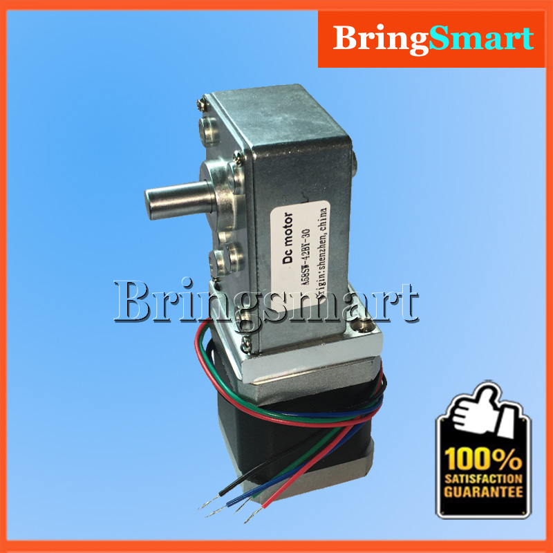 A58SW-42BY 12Volt DC Stepping Geared Motors 24V Worm Stepper Gear Motor Reduction Motor High Torque Synchronizable Self-locking