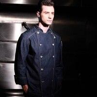 2017 New Fahion Restaurant Hotel Kitchen Chef Coats Jackets Uniform Long Sleeves Double Button Unisex