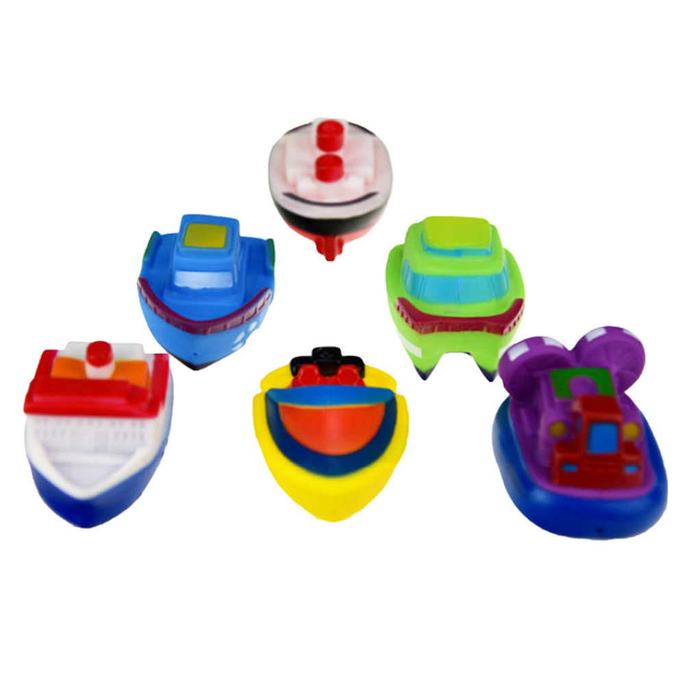 Satkago 6 PCS Children Kids Funny Floating Boat Ships Bath Game Toy Shower Water Play Swimming Pool Beach Shower Play Bath Toys