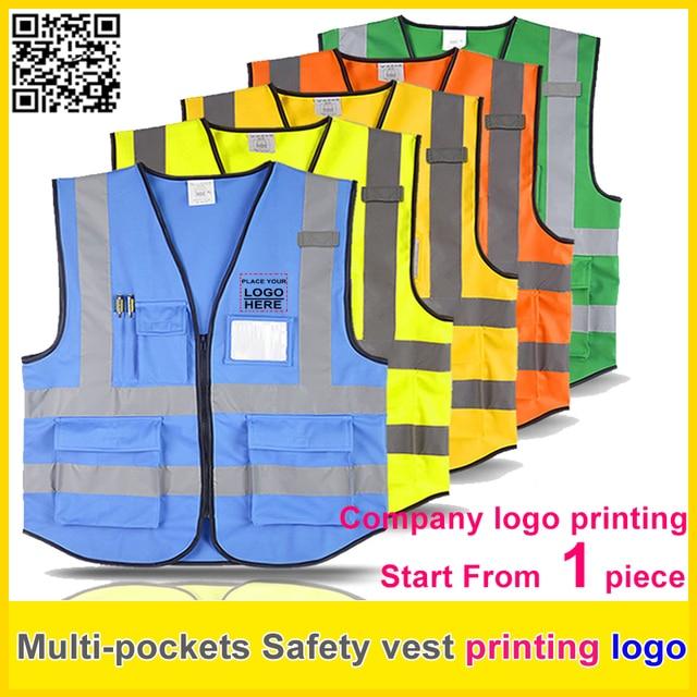 81ecb205df4 SPARDWEAR de seguridad de alta visibilidad chaleco reflectante el logotipo  de impresión, chaleco de trabajo