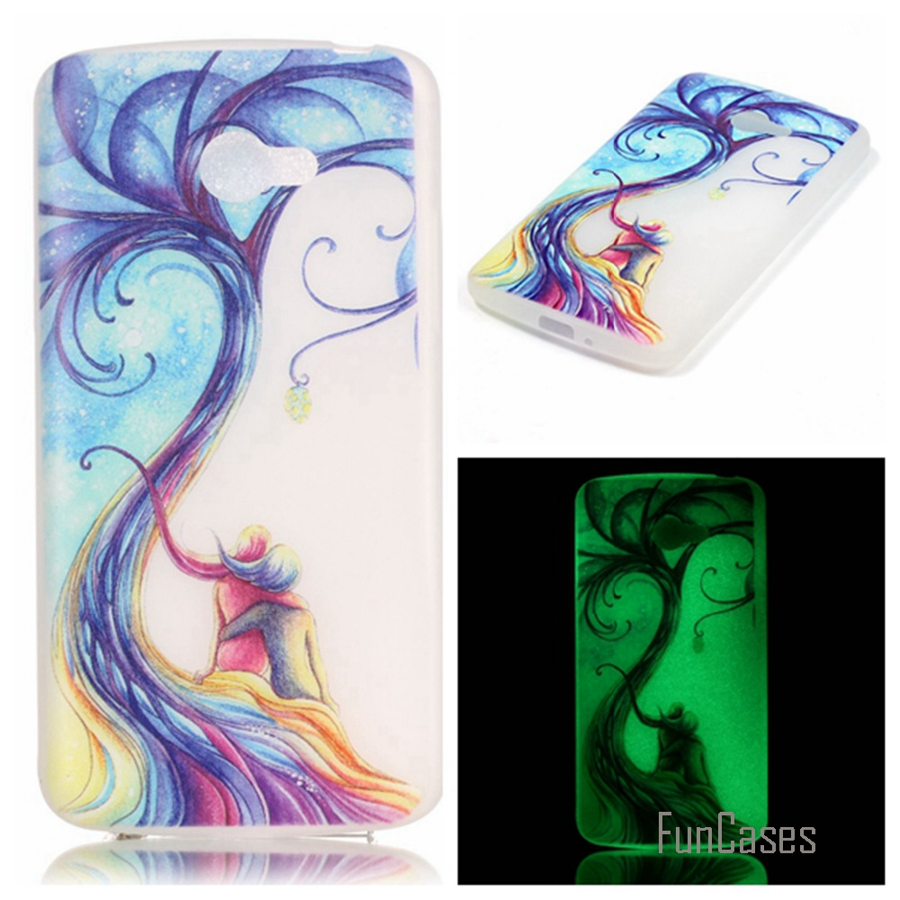New Fashion Luminous night Slim phone Cases for LG K5 X220 X220DS Q6 Fluorescence Soft TPU Silicon Gel back cover skin
