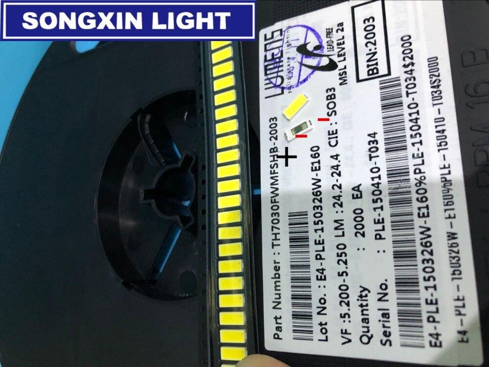 500 шт люменов светодиодный подсветка 1 Вт 6 в 7030 холодный белый ЖК Подсветка для ТВ приложения