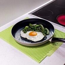 ABFP силиконовый коврик для сушки посуды Flume складной дренажный коврик, Прямоугольный Коврик для сушки посуды термостойкий нескользящий поднос