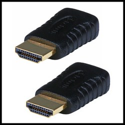 2x Mini HDMI Female to HDMI Male Adapter Type C to Type A Converter 1080 p HDTV