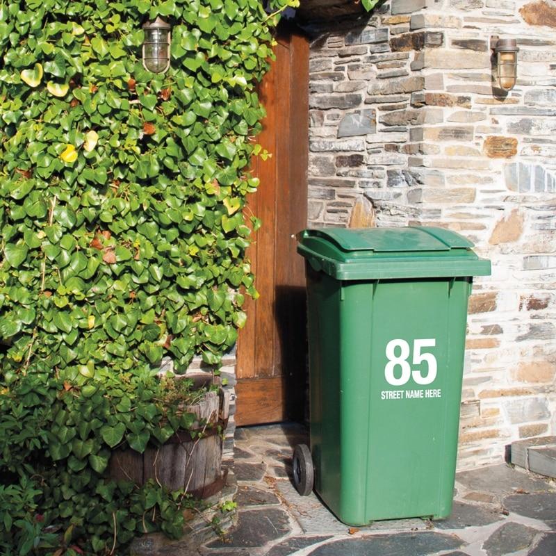 street name here Recycle Bin Trash Can Vinyl Sticker