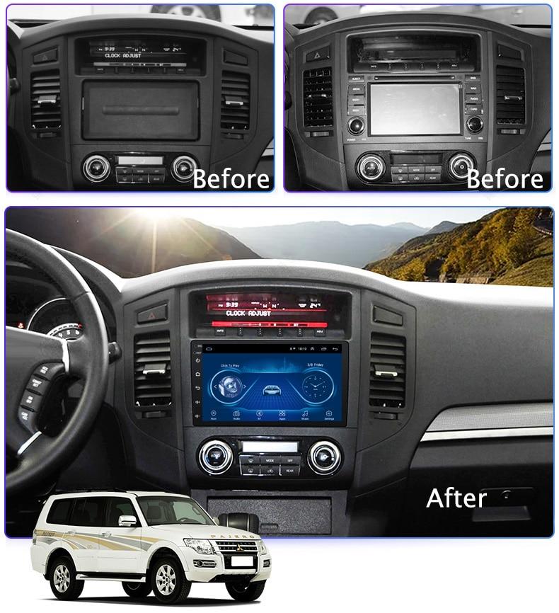 Super Slim Touch Screen Android 8.1 radio GPS Navigation for Mitsubishi Pajero headunit tablets Stereo Multimedia Bluetooth Mitsubishi Pajero