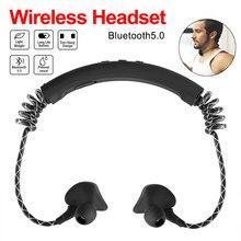 купить Wireless Waterproof Bone Conduction Earphone Sport Headset Bluetooth Headphone Stereo Bass Active Noise Cancelling For iPhone 8 по цене 784.03 рублей