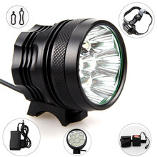 Waterproof 15000Lm Bike Headlight 9x CREE XM-L T6 LED Camping Fishing Bicycle Cycling Lamp  + 8 x 18650 Battery Pack