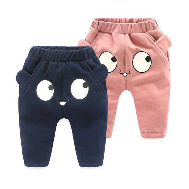 Baby velvet trousers newborn clothes winter thickening harem pants1 00% cotton baby trousers