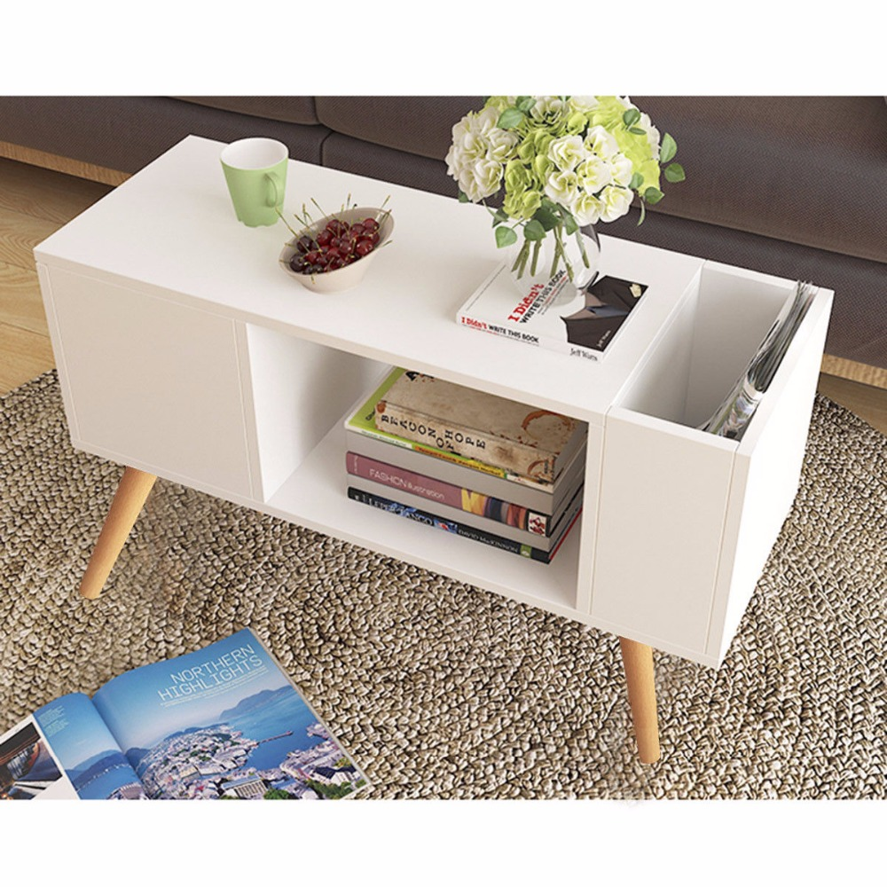 Giantex Modern Side Table End Table for Bedroom Living Room Sitting Room Drawer White Living Room Furniture HW57465 цены