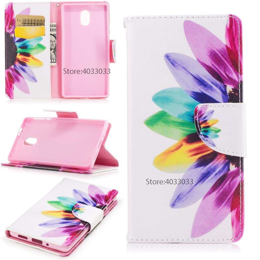 Flip Wallet <font><b>Cases</b></font> for Nokia3 TA-<font><b>1032</b></font> TA-1020 Phone <font><b>Cases</b></font> PU Leather Cover for <font><b>Nokia</b></font> <font><b>3</b></font> Global Dual TA <font><b>1032</b></font> Painted Silicone <font><b>Cases</b></font> image