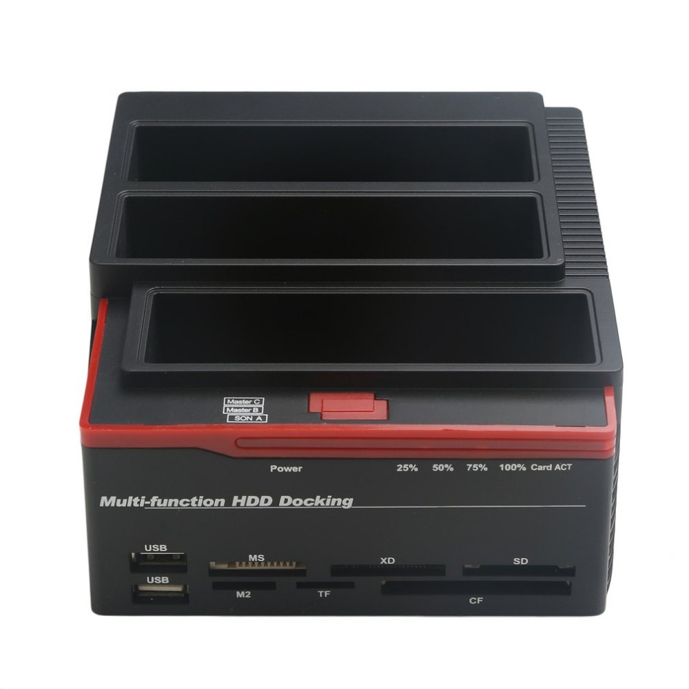 USB 3.0 To 2.5 3.5 SATA IDE Hard Disk Drive 3 Slots HDD Clone Docking Station USB HUB 2TB 893U3ISC Multi-purpose HDD Docking