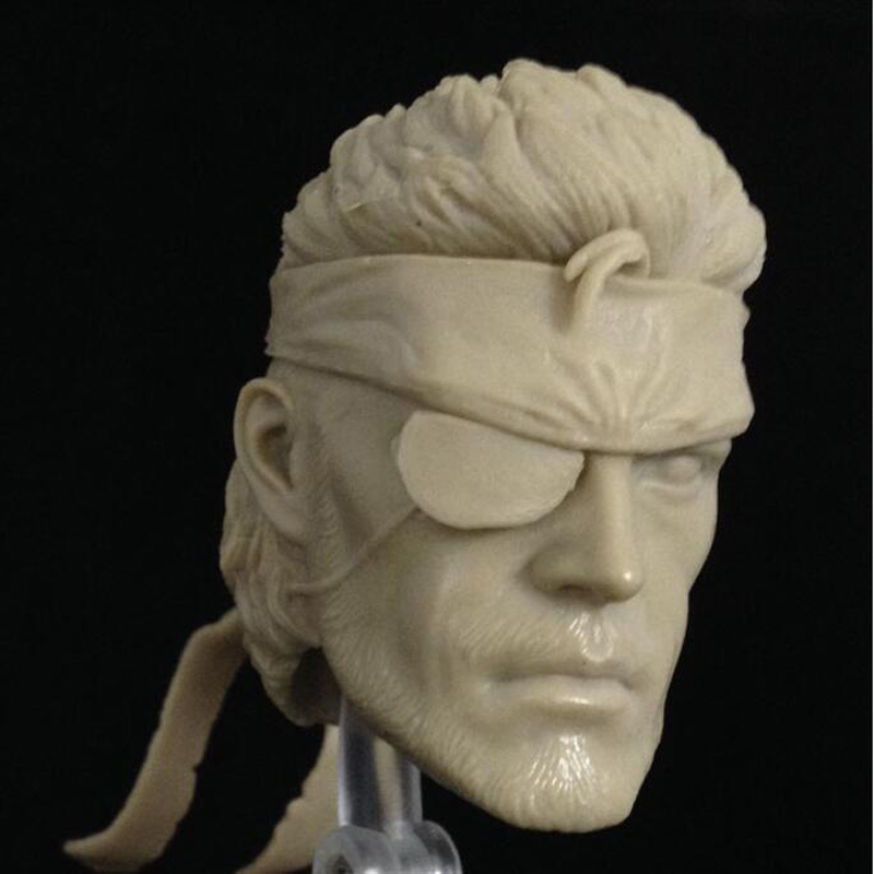 """1//12 Scale Metal Gear Solid V Naked Snake Head Sculpt Unpainted Fit 6/"""" ML Figure"""