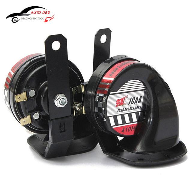 1 par x Ar Airhorn Buzina Caracol 12 V 130dB Speaker Proteção Contra Roubo de Veículo Caminhão Do Carro Da Motocicleta Motocycle Barco Iate