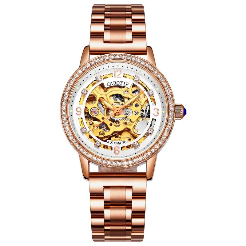 Mode automatische mechanische horloges vrouwen - Dameshorloges