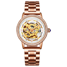 Fashion automatic mechanical watches women stainless