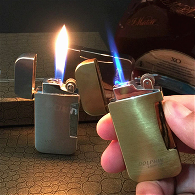 Gas Cigar Torch Turbo Lighter 1300 C Jet Free Nozzle Flame Switch Windproof Pipe Cigar Lighter Grinding Wheel Butane Gas Lighter