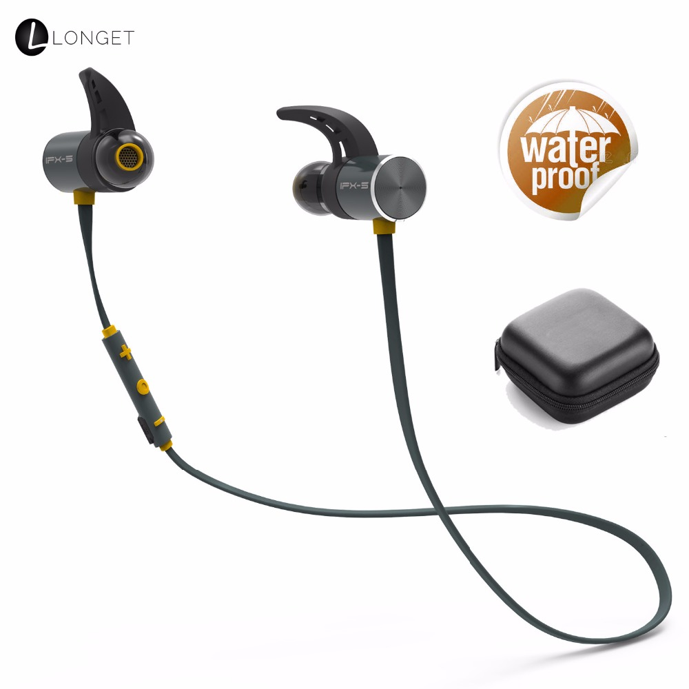Wireless Bluetooth Sports Earphones in Ear Earbuds with 8 Hours Playtime IPX5 Waterproof aptX Stereo Magnetic Aluminum Design sq u6 wireless v4 1 magnetic stereo earphones