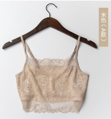 Summer sexy lace lace short silk wrapped chest silk Camisole bra backing
