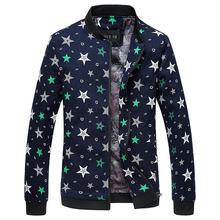 2016 new winter Men's five-star pattern jacket The fashion leisure han edition coat big yards