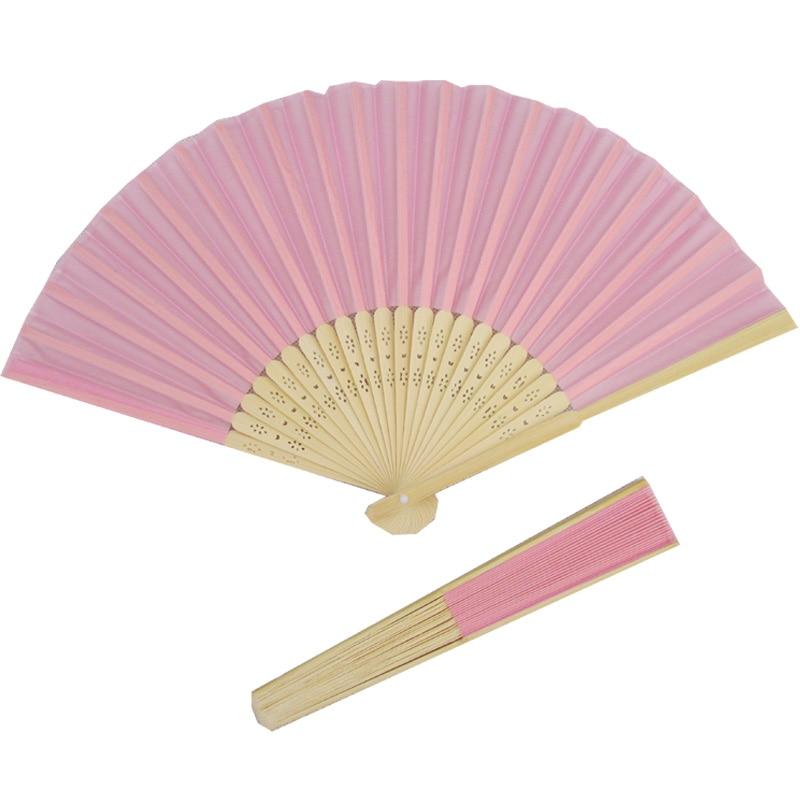 10pcs rosa oriente bolso dobrável mão de seda Fan favor do - Para feriados e festas