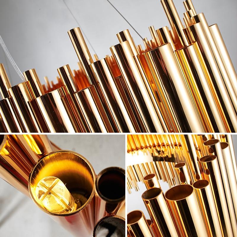 Itália design ouro delightfull brubeck lustre tubo