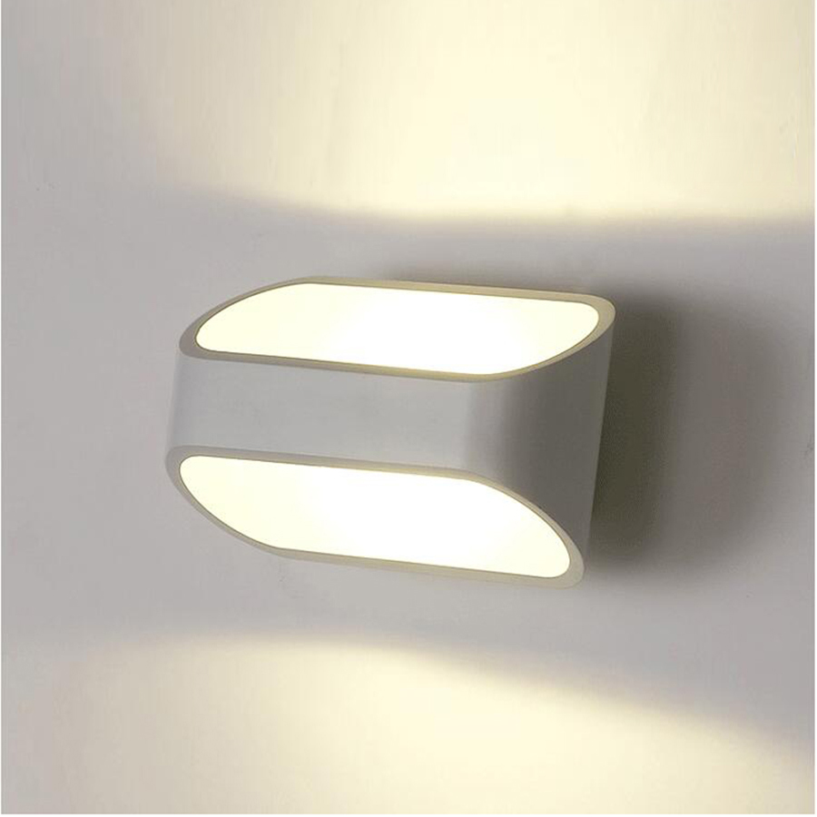 Tanbaby Modern 5W Wall Lamps White Sconces Lighting Fixture AC 85-265V Bedroom bathroom wall decoration for home GardenTanbaby Modern 5W Wall Lamps White Sconces Lighting Fixture AC 85-265V Bedroom bathroom wall decoration for home Garden