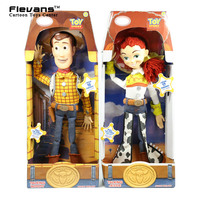 Toy Story 3 Talking Woody Jessie PVC Action Figure Collectible Model Toy Doll Christmas Birthday Gift for Kids Children