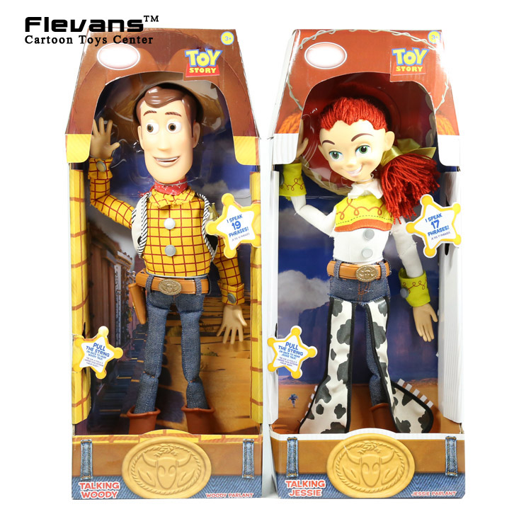 Toy Story 3 Talking Woody Jessie PVC Action Figure Collectible Model Toy Doll Christmas Birthday Gift for Kids Children 4pcs set anime toy story 3 buzz lightyear woody jessie pvc action figure collectible model toy kids gifts 14 5 18cm zy468