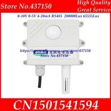 Czujnik światła 0 10V 0 5V 4 20mA RS485 200000Lux 65535Lux natężenie oświetlenia przemysłowego nadajnik akwizycji wyświetlacz LCD