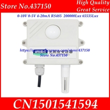 Licht sensor 0 10V 0 5V 4 20mA RS485 200000Lux 65535Lux industrielle intensität beleuchtung erwerb sender LCD display