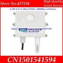 Sensor de luz industrial 0-10v 0-5v 4-20ma rs485 200000lux 65535lux iluminação intensidade industrial transmissor de aquisição lcd exibição de tela