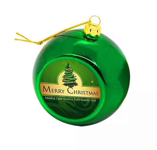 50pcs In Stock 8cm Sublimation Christmas Ball Heat