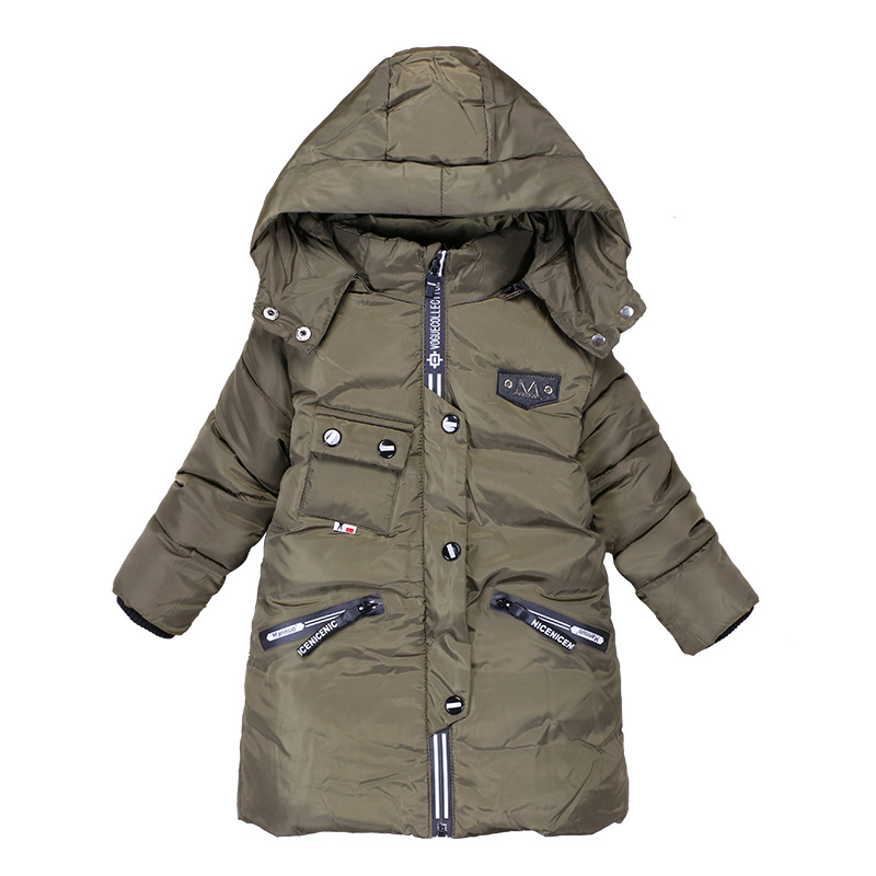 Children Boys Winter Down Jackets 100% Warm Letter Outerwear 2017 New Kids Hoodies Boy Padded Jacket Infant Snow Clothing 2017 fashion teenager motorcycle coats boys leather jackets patchwork children outerwear letter printed boy faux leather jacket