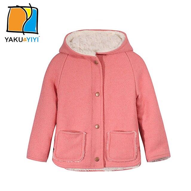 8d28ca842 Ykyy yakuyiyi sólidos rosa meninas falso outwear bebê meninas outerwear & casaco  forrado de pele de