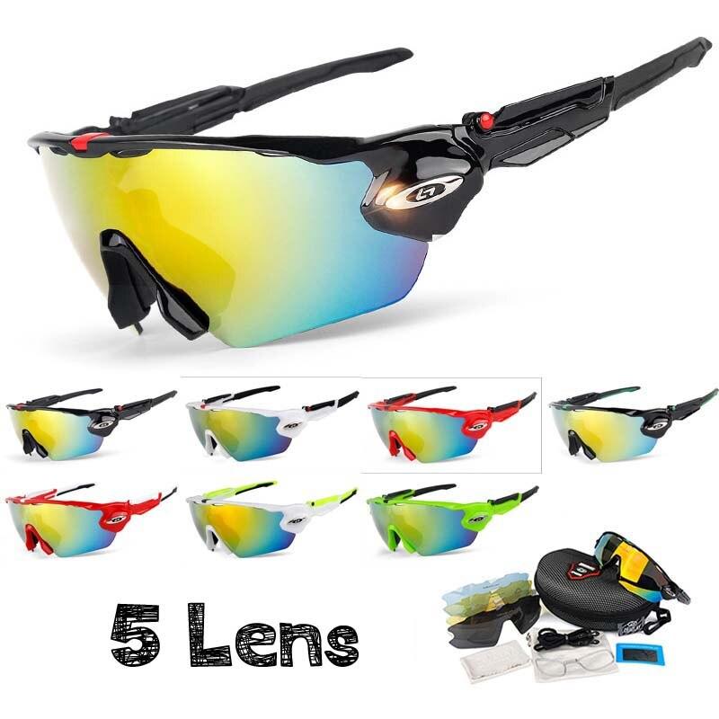 Sports de plein air lunettes de cyclisme lunettes de soleil polarisées 5 lentilles UV 400 vtt hommes femmes lunettes de vélo Sport lunettes de vélo