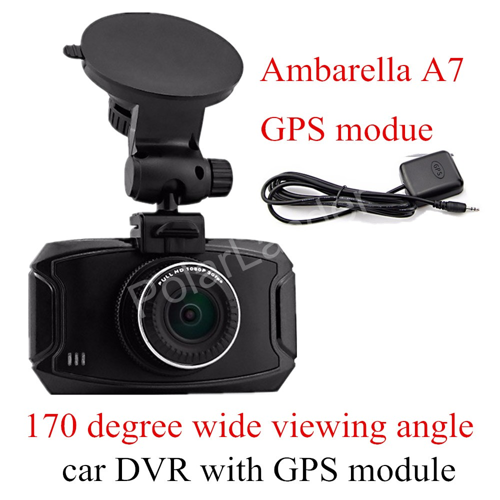 GS90A Ambarella A7 Car DVR Camera HD 2.7 Inch Dash Cam 170 Degree wide viewing angle Camcorder with GPS module gs90a ambarella a7 car dvr camera hd 2 7 inch dash cam 170 degree wide viewing angle camcorder with gps module