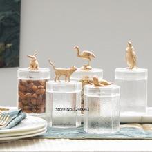 Креативная декоративная стеклянная банка для хранения, для хранения продуктов, для домашнего хранения чая, журнального стола, декоративная банка, стеклянные контейнеры для хранения