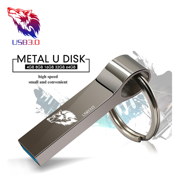 Hot sale metal USB Flash Drive 4gb 8gb 16gb flash disk Pendrive 32gb 64gb memory stick USB 3.0 Flash USB Stick pen drive 2