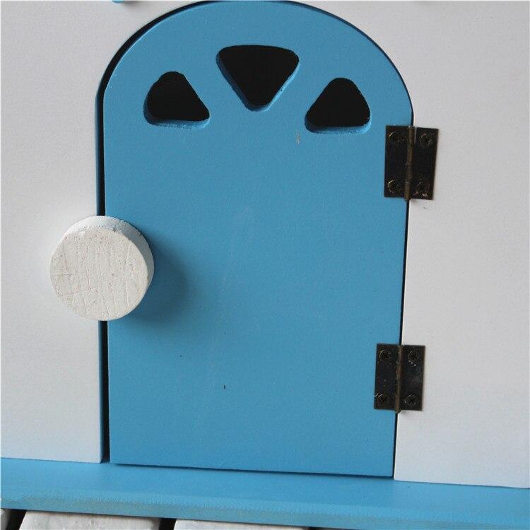 Винтажные настенные полки Organizador, декоративная деревянная коробка, настенный дом, держатель для хранения букв, вешалка для букв, держатель с... - 6