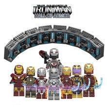 Legoed Avengers 4 Endgame Iron Man Hall of Armor Model Marvel Figures Playmobil Building Blocks Kit Children Collection Toys