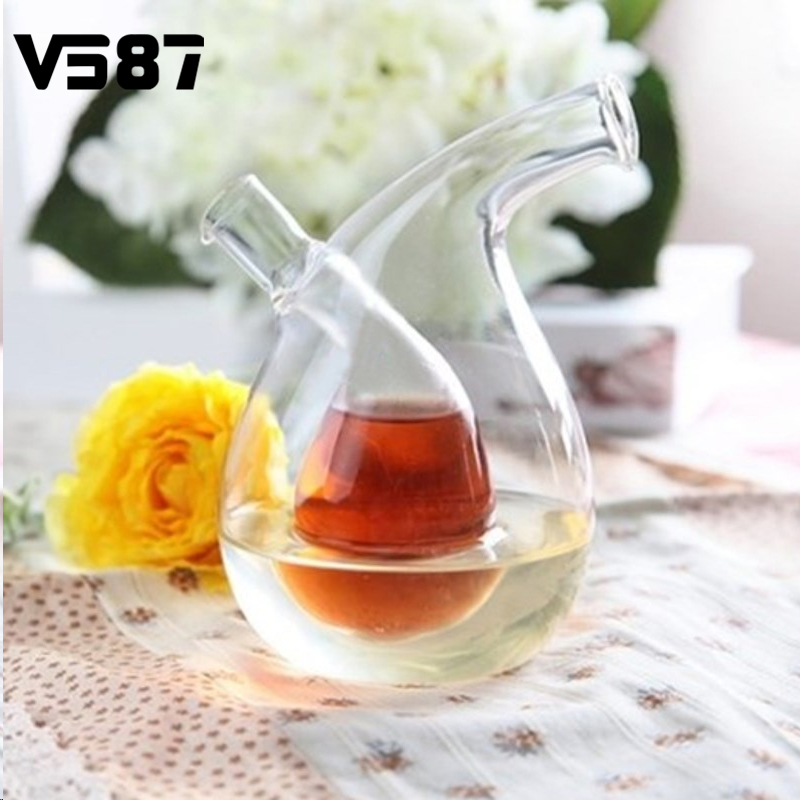 Kitchen Glass Storage Bottle Vinegar Sauce Glass Jar Oil Bottles Sealed Multifunction Seasoning Red Wine Bottle