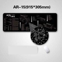 AR15 AK47 резиновый коврик для чистки ружья с схемой деталей и инструкциями оружейный коврик для мыши Glock SIG P226 P229