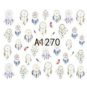 Image 5 - 12 diseños de pegatinas para manicura Dream Cather, calcomanías de transferencia al agua, juegos de tatuajes de uñas, esmalte de Gel, A1261 1272 de uñas DIY