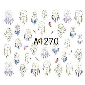 Image 5 - Autocollants pour Nail Art, décalcomanies de transfert à leau, pour lensemble de tatouage des ongles, breloques de manucure, cadeau de rêve, à faire soi même, 12 modèles, A1261 1272