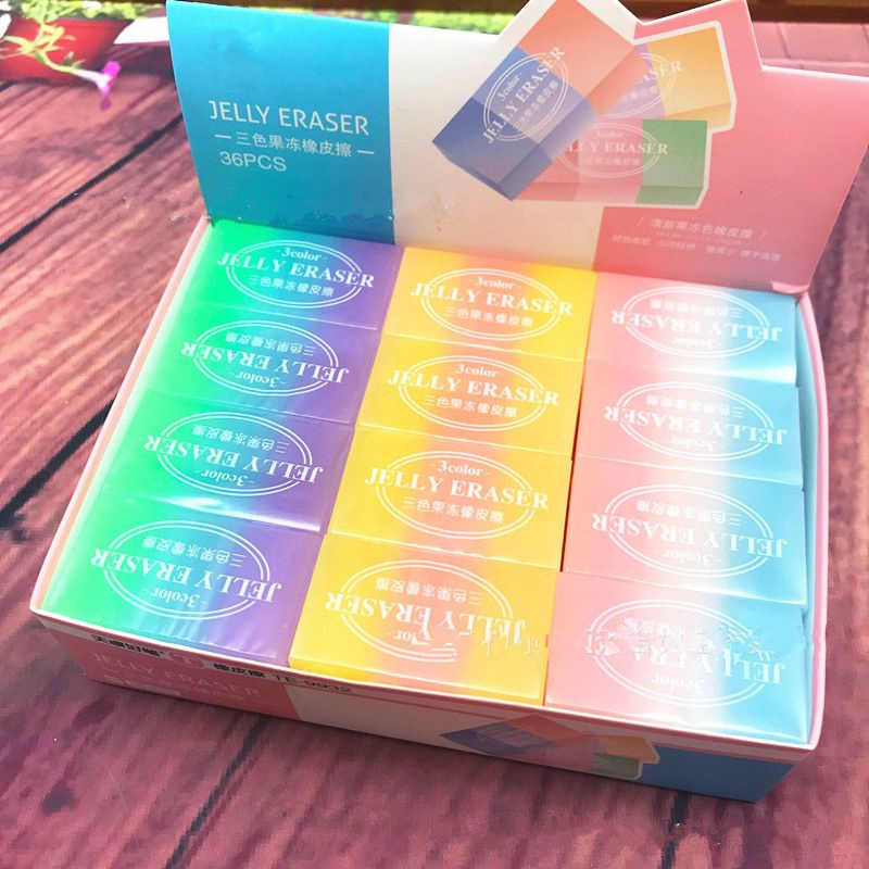 1 PC Jelly Farbe Radiergummi Zeichnung Prüfung Radiergummi Korrektur Bleistift Radiergummi Studenten Lernen Schreibwaren Schule Bürobedarf