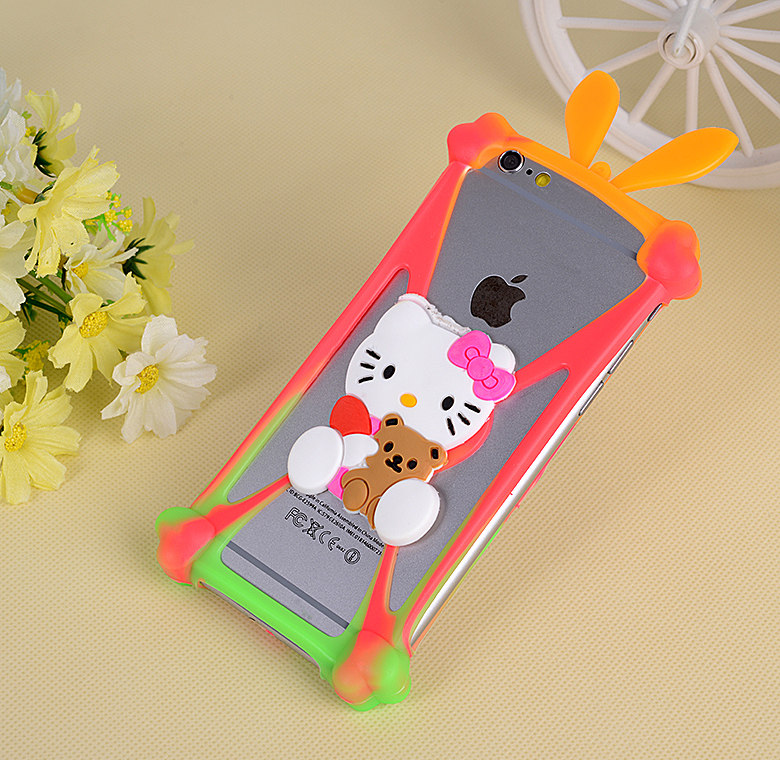 Universal Cute Cartoon Soft Silicon Rubber Cover Case For Ark Benefit M501 M502 M503 M505 M506 M8 S401 S402 S404 S502 S503 Capa image