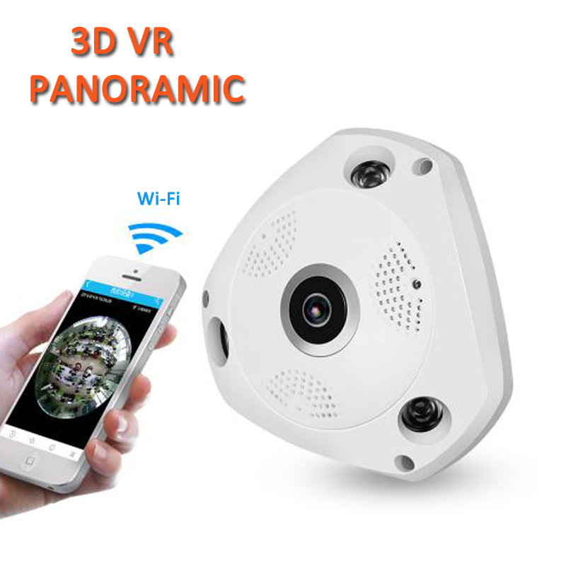 1.3MP 3D VR Panoramic Camera 1.44mm HD Wifi Fisheye Camera 360 Degree Panoramic Camera Mini Wireless IP Camera Baby Monitor wunder360 4k full hd vr 360 camera fisheye planet sphere camaras 360 degree panoramic camera portable usb for oppo huawei xiaomi