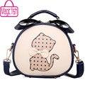 Magic fish! women bags for women messenger bags shoulder bag ladies brand leather handbag purse cute cat bag bolsas LS4478mf